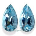 Aquamarine Matched Pair Brazil 4.40 cts