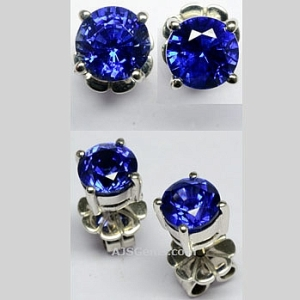 2.12 ct Ceylon Sapphire Earrings