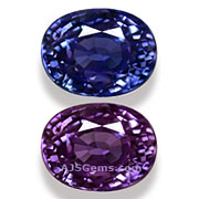 Color Change Sapphire Tanzania 1.76 cts