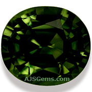 Green Sapphire Thailand 6.36 cts