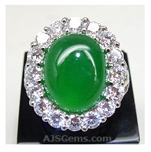 8.01 ct Jadeite Ring in Platinum