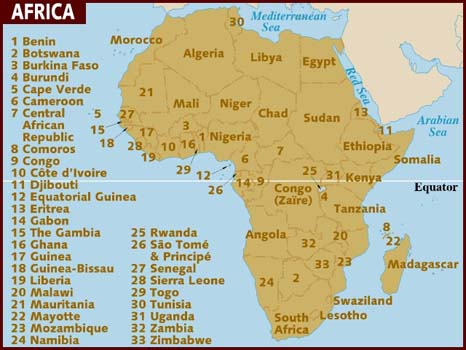 Map+of+africa+countries