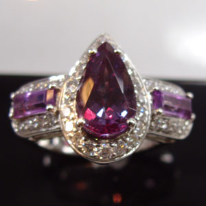 Pear Alexandrite Ring