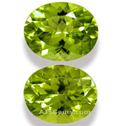 Peridot Pair China 5.85 cts