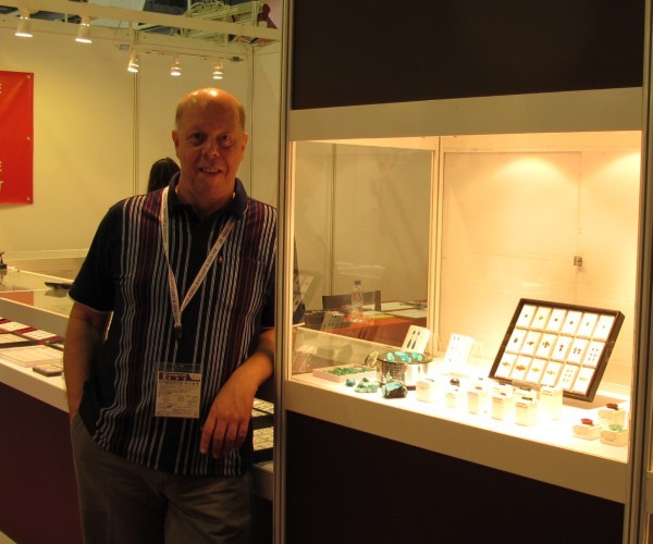 Ron at Hong Kong Gem Fair, 2012