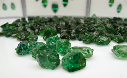 Tsavorite Garnet rough stone from East Africa