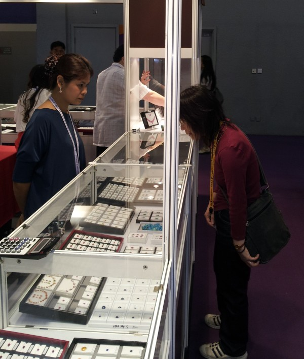 Rung with customer at Hong Kong Gem Fair, 2012