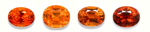Spessartite Garnet Colors