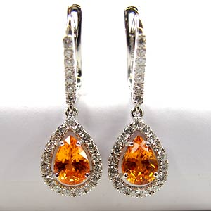 Spessartite Garnet Earrings 2.79 cts