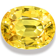 Lattice Diffused Yellow Sapphire Madagascar 5.92 cts
