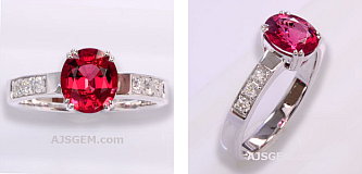 1.40 ct Burma Spinel Ring in 18k White Gold