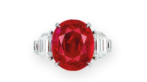 10.04 ct Burma Ruby and Diamond Ring