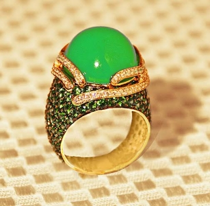 16.28 ct Chrysoprase Ring
