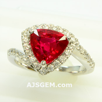 3.01 ct Burma Ruby and Diamond Ring