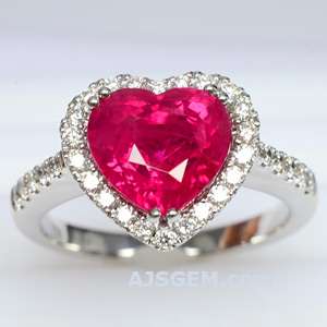 3.15 ct Burma Ruby and Diamond Ring