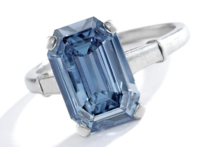 3.47 ct Blue Diamond Ring