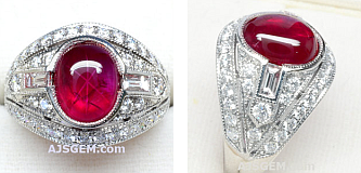 5.02ct Burma Star Ruby and Diamond Ring