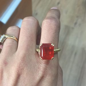 5.74 ct Fire Opal Ring