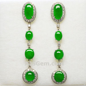 Jadeite Earrings 6.92 cts
