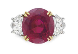 8.64 ct Burma Ruby and Diamond Ring