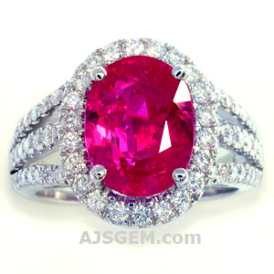 5.06 ct Burma Ruby and Diamond Ring