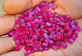 Mozambique rough ruby