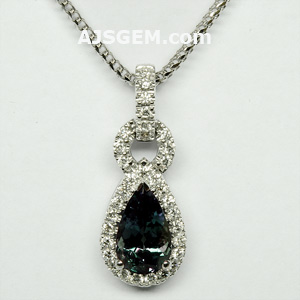 2.03 ct Alexandrite and Diamond Pendant