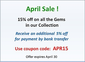 April promotion 15% off
