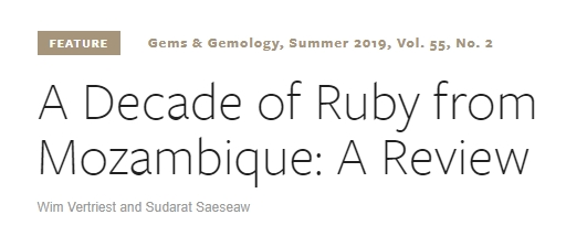 GIA Review of Mozambique Ruby