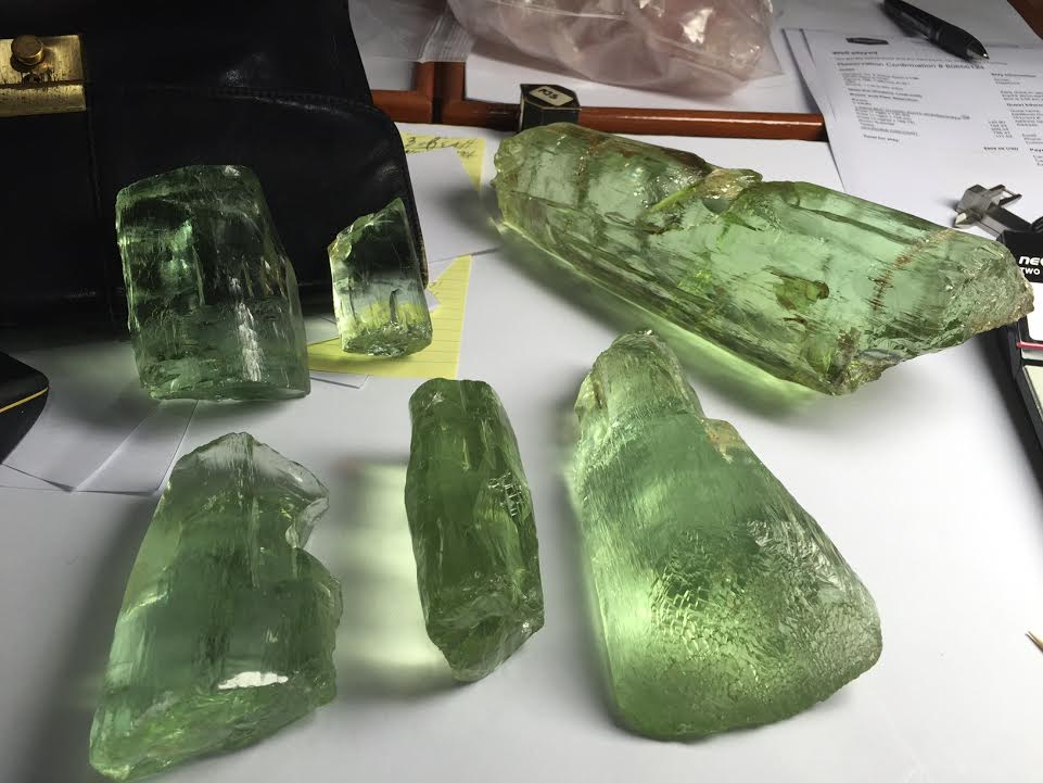Green Beryl Crystals