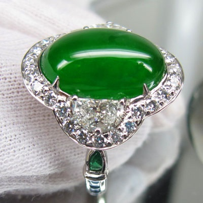 Jadeite Platinum Ring