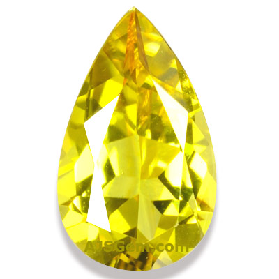 Yellow Tourmaline Pear