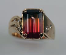 Bi color tourmaline jewelry