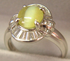 Cats Eye Chrysoberyl Ring