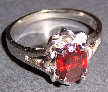 Honey Red Zircon Ring