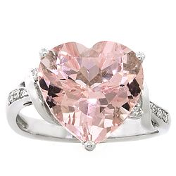 Morganite Beryl Ring