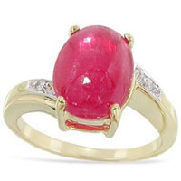 Rhodonite Cabochon Ring