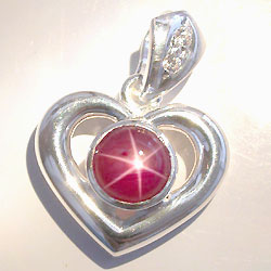 Star ruby pendant